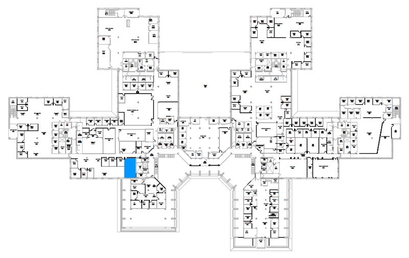 Room N224 location map
