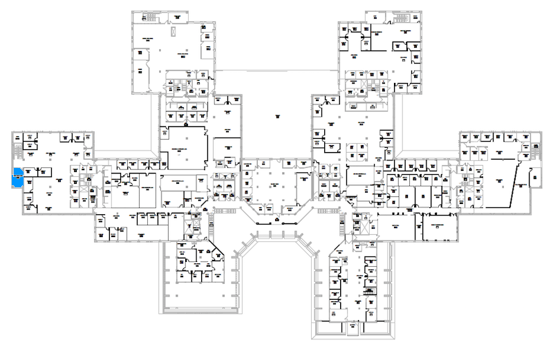 Room N249 location map