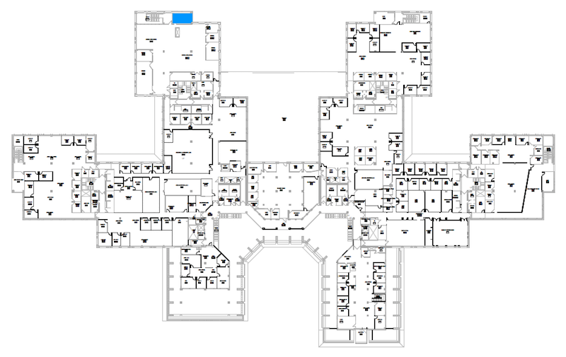 Room N290 location map