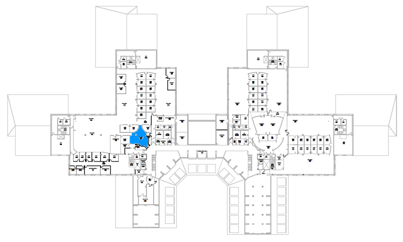 Room N321 location map