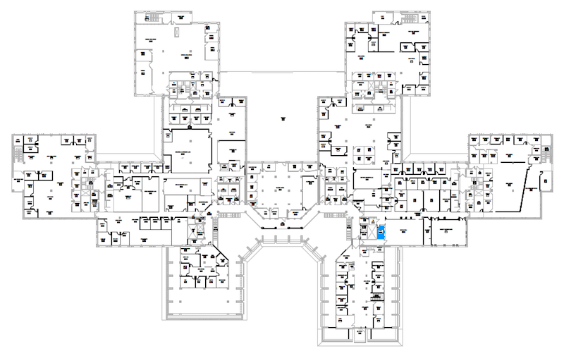 Room S221 location map