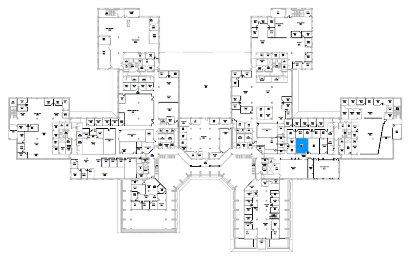 Room S225 location map