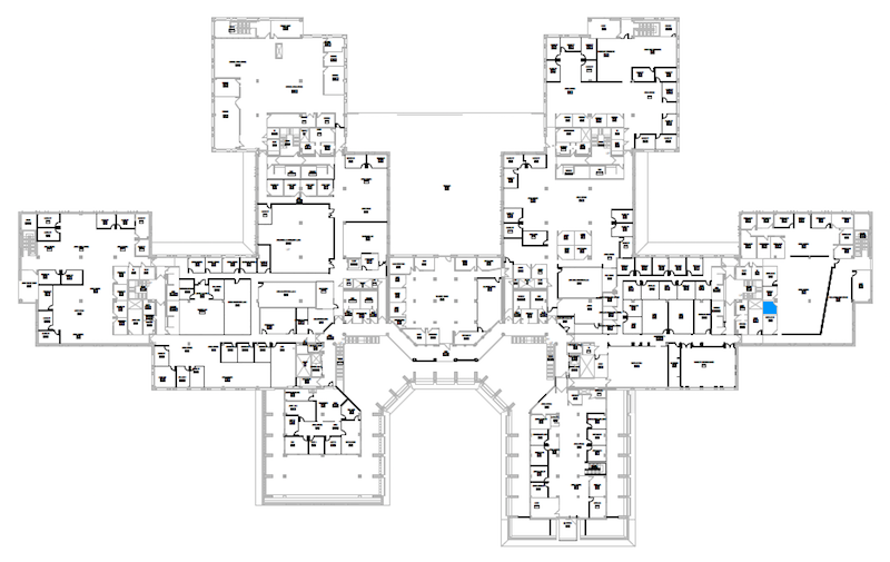 Room S243 location map