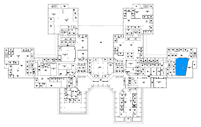 Room S247 location map