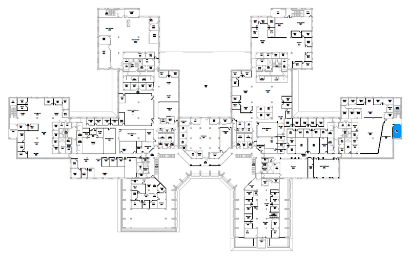 Room S249 location map
