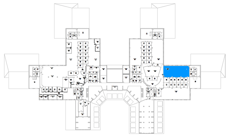 Room S348 location map